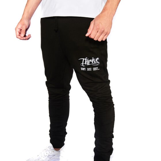Thrive Black Tracksuit Trousers